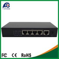 Newest 4 full Gigabit Port Poe Switch 4+1 Ports DC Desktop Fast Ethernet Switch Network IP Cameras P