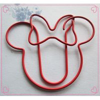 design circle shaped paper clips with metallic material