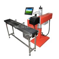 CO2 On-flying Laser Marking Machine For Textile, Leather, IC, Auto parts, Wire, Cable, package