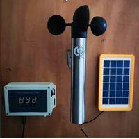 Wireless Wind Speed Sensor Anemometer for Crane Solar Powered
