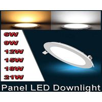 Ultra thin design 6W LED ceiling recessed grid downlight / slim round panel light thumbnail image