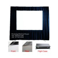 "120"" 150"" 180"" 200"" inch outdoor portable front and rear projection fast folding projector screen"