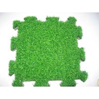 artificial grass floor plactic material assembly ,mobilizable surface
