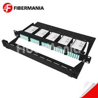 1u 120 Fiber Ultra High Density MTP Patch Panel Fully Loaded with Om3 MTP-LC Modules