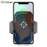 voice speaker autometical auto 10w fast qi wireless car charger holder mount for iphone samsung huaw thumbnail image