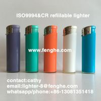FH-826 refill gas lighter plastic electronic lighter ISO9994