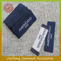 China factory customize low price clothing label tag woven damask label