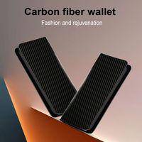 Custom logo carbon fiber zipper long wallets leather men thumbnail image