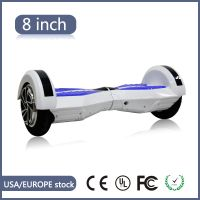 "8"" UL Lamborghini Bluetooth Hoverboard In white"