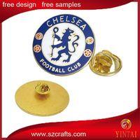 Enamel color round lapel pin metal badge