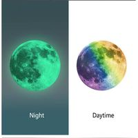 3 D Luminous Night Moon PVC Wall Sticker Glow in The Dark Great Gift and Home Decoration for Kids Be