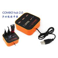 3 ports USB 2.0 HUB with Multi-card Reader Combo for SD/MMC/M2/MS MP All In One