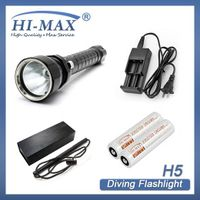 Extremely powerful scuba LED rechargeable aluminium alloy diving torch
