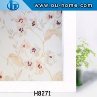 Plastic glass film decorative pvc static window film