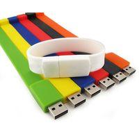 Bulk 1GB wristband usb flash drive silicone bracelet usb drive thumbnail image
