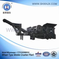 Wheel Type Portable Mobile Crusher Plant With 80-130 TPH Capacity
