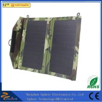 10W 5V Portable Foldable Solar Power Charger with Dual USB Output for Camping thumbnail image