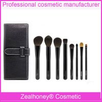 7 PCS Natural hair makeup brush wholesale free sample makeup brush