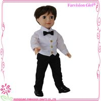 Popular fashion 18 inch realistic soft baby boy doll toys