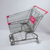 New Style Cheap 4 Wheel Shopping Cart Trolley with Baby Seat for Supermarket thumbnail image