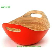Vietnam bamboo bowl, spun bamboo bowl