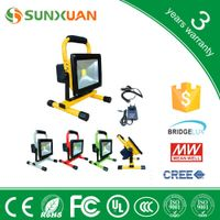 outdoor portable 20w led flood light dimmable+USB rechargeable led work light