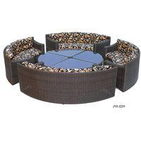 modern outdoor poly rattan wicker sofa set