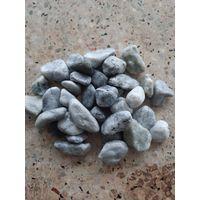 Black Grey Pebble Tumbled Stone Cloudy Vein Stone