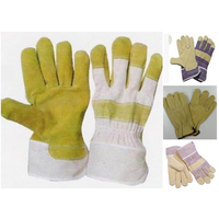 supply all kind of pig split leather working gloves thumbnail image