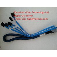 Internal MiniSAS SFF-8087 to (4) 7pin SATA(SFF8087 to SATA) SAS Fanout Cable with Sideband 65cm