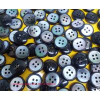 Shell and polyester covered combination button