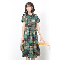 FUKESI2020 summer women's dresses dresses women's mother dresses simulation silk imitation mulberry