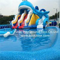 inflatable pool slide swimming pool pvc pool frame pool thumbnail image