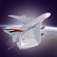 Metal crafts Display Plane Model Airbus 380 Emirates Airlines Simulation