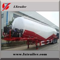V / W Type Cement Trailer , Truck Powder Bulk Cement Tank Semi Trailer thumbnail image