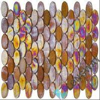 "12"" Iridescent Glass Mosaic Tile(L2IOV001)"