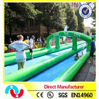 Three Lanes slip n slide inflatable slide the city