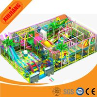 Factory direct sale small ball pool with wood big slides indoor playground set facility for home thumbnail image