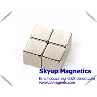 Cube magnets with large pull force