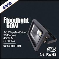 Super bright IP65 driverless AC 50w led floodlight with 3 years warranty