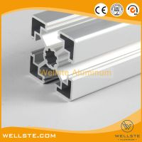 Silver Anodized Extruded T Slot 4545 Aluminium Profile for Convey System