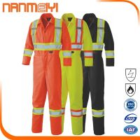 Hi Vis Reflective Safety Men's Construction Uniform Overall