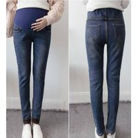 Ladies High Elastic Waist  Fleece Lined Jeans