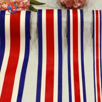 100% polyester striped satin ribbon