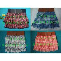 Free Size Denim Short Skirt Women's Mini Skirt with Belt Ladies Short Skirt casual dress