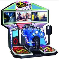 Tri Screen Race Coin Operated Machine