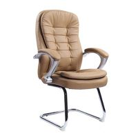 Bow Base PU Leather Office Chair Computer Meeting Room Chair thumbnail image