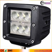 18w square led work light for truck jeep