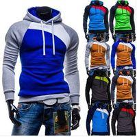 Mens Jackets new fashion color block splicing Men's hoodies, casual slim men sweatshirt thumbnail image