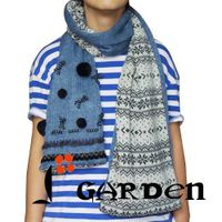 northern europe pattern long fashion scarf knitted scarf thumbnail image